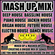 DEEP PIANO BASSLINE FUTURE HOUSE MUSIC MASH UP MIX CD NEW 2018 - 73 ibiza Songs