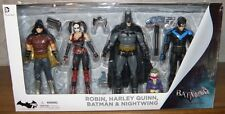 4 Actionfiguren Batman, Harley Quinn, Nightwing, Robin 17 cm OVP Arkham City