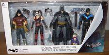 4 Actionfiguren Batman, Harley Quinn, Nightwing, Robin 17 cm OVP Arkham City