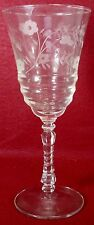 LIBBEY Rock Sharpe crystal HALIFAX 3005 pattern WATER GOBLET or GLASS 7-7/8""