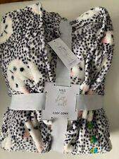 Supersoft BNWT M&S cat print fluffy dressing gown robe 12-14