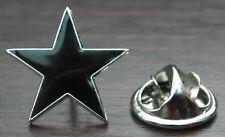 Black Star Lapel Pin Badge Five-pointed Pentagram Anarchy Anarchism Symbol
