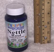 Nettle Root Standardized Extract / Vitamins Because NO PRESERVATIVES 100 caps