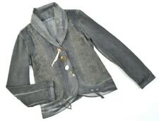 6538^ ELISA CAVALETTI Luxus Spitze Italienisch Verschönert Blazer Jacke Gr L