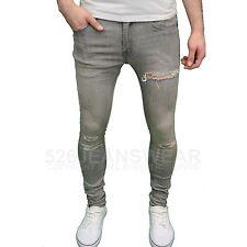 Soulstar Hombre Diseñador Marca elásticos de Pitillo Pantalones DESGARRADOS,