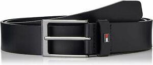 TOMMY HILFIGER Layton Leather BLACK Belt 3.5   All sizes  32-34-36-38-40-42-44