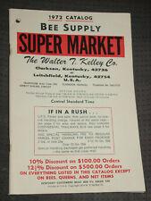 1972 Catalog Bee Supply Super Market, Walter T. Kelley Co. Clarkson, Kentucky