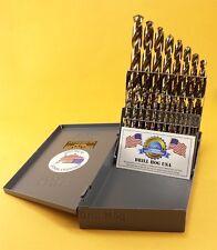 21 Pc COBALT M42 Drill Bit Set Cobalt Drill Set Drill Hog USA Lifetime Warranty