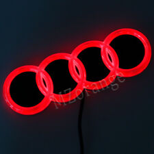 4D LED Car Tail Logo Light For Audi Q3 Q5 A1 A3 TT Auto Badge Light Emblem Red