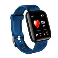 IP67 Montre Smart Watch Intelligente Barcelet  Connectée Bluetooth 4.0 Bleu BT