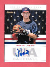 2013 Trace Loehr Panini USA Baseball Rookie Auto 176/499