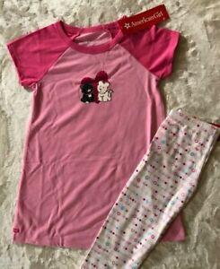 American Girl Doll I Love Pets Girl's PJ Pajamas size Small 7/8 NWT