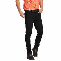 Volcom Men's 2X4 Skinny Fit Jeans Blackout Clothing Apparel