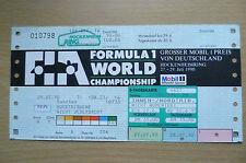 Ticket- 1990 Formula 1 World Championship~ GROSSER MOBIL 1 PREIS VON DEUTSCHLAND