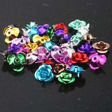 500pcs Mixed 12 Color Flower Shaped Loose Beads Aluminum 8mm Fit Handmade DIY L