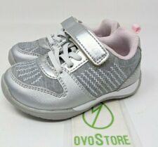 Stride Rite Girls' Avery Sneaker size 5 M silver