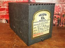 Vintage DRUGPACK RECORD FILE metal apothecary Pharmacy cabinet Drug Package Inc