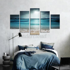 5Pcs Sunset Seaside Canvas Print Art Painting Home Wall Picture Framed Unframed