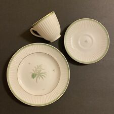 New ListingLovely Royal Copenhagen Demitasse Cup, Saucer & Bread Plate Pattern Green Melodi