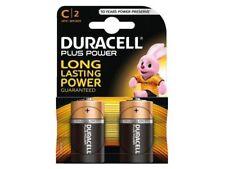 2 x Duracell C 1.5v Alkaline Batteries C2 LR14 / MN1400 Free Same Day Dispatch