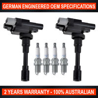 Set 4x NGK Spark Plugs & 2x Ignition Coils for Suzuki Baleno Carry Jimny 1.3 1.6