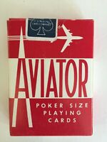 Vintage Aviator Poker Size Playing Cards RED Deck NEW & Sealed Airplane Ohio USA