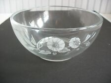 1 Avon Hummingbird Serving Bowl Lead Etched Crystal Glass 8""