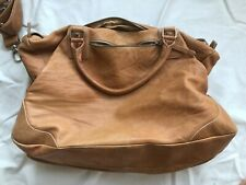 Leather Duffle Weekender Bag Rossi Firenze Made In Venice Italy