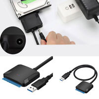 "USB 3.0 to & SATA Converter External Hard Drive Adapter Kit 2.5""/3.5"" Cable#"