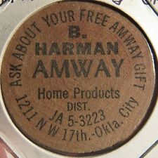 Vintage Amway Home Products Oklahoma City, OK Wooden Nickel - Token Okla.