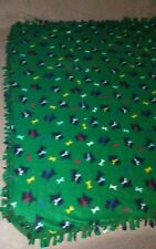 "Scotty Dog Fleece Handmade Tie Blanket Throw or Oversized Baby Approx 50""X60"""