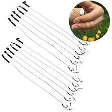6Pcs Size 6 8 10 Barbless Carp Fishing Hook Tackle Hair Rigs Accessories Tackles