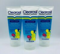3 x Clearasil Daily Clear Hydra-Blast Oil-Free Face Wash 6.5 oz Each Exp 08/2017