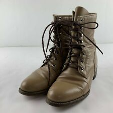 Justin Roper Women 5.5 B Tan Western Kiltie Leather Cowboy Lace Up Boots L505