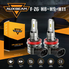 AUXBEAM LED Headlight Kit H11 H8 H9 6500K Fog Light Bulb Bright High or Low Beam