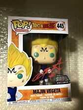 Signed! Funko Pop! Dragon Ball Z Majin Vegeta Over 9000.com NYCC Exclusive 445