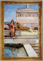 Ölbild Sir Lawrence Alma-Tadema, Gemälde handgemalt signiert F:60x90cm