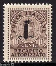 ITALIA RSI 1944 - RECAPITO AUTORIZZATO SOPRAST. FASCIO - C. 10 - MNH