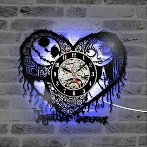 Jack Skellington and Sally Nightmare Before Christmas Wall Clock Gifts Decor
