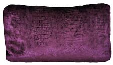 Alligator Skin Cushion Cover Purple Fabric Limpopo Osborne & Little Rectangle