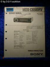 Sony Service Manual MDX c6500rv Mini Disc Player (#6290)