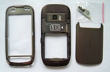 Brown fascia skin housing cover facia faceplate case for Nokia C7   oiuo8u0ou98
