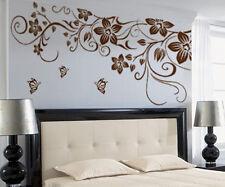 Vite Fiore Farfalla Rimovibile PVC Adesivo Da Parete Arredo Casa Decalcomania