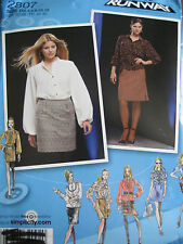 Simplicity #2807 - Ladies Great Business Attire Skirt & Blouse Pattern 4-12 uc