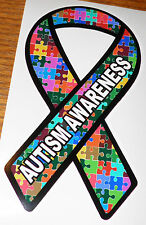 """Autism Ribbon Decal  approx 3.5 x 6.5""""  for (2)"""