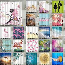 Divers Tissu Imperméable Salle de Bain Douche Panneau de Rideau W / 12 Crochets