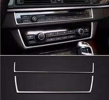 Stainless Steel Center Console CD Panel Decal Trim For BMW 5 series F10 2011-17