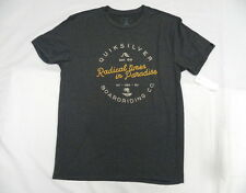 Quiksilver Fader Creek Charcoal Heather T- Shirts Sz Medium SAQYZT04422