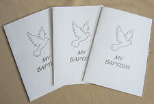 50 My Baptism Certificates Silver foiled Gift Card EB220