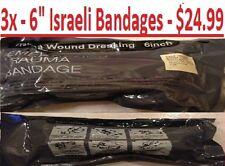 """3 Bandages - MILITARY 6"""" INCH ISRAELI EMERGENCY TRAUMA COMPRESSION DRESSING 2025"""